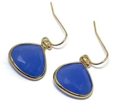 12x12x12mm Blue Topaz Earrings