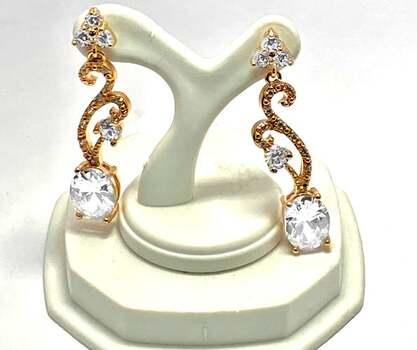 13.25ctw White Diamonique Earrings