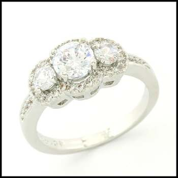 1.33ctw White Sapphire Ring Size 7