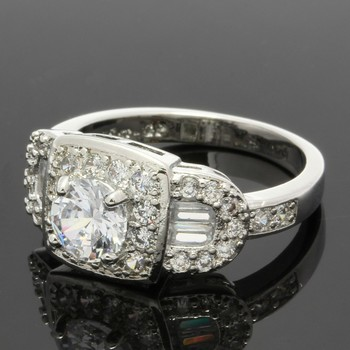 1.38ctw White Sapphire Ring Size 6.5