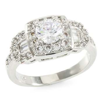 1.38ctw White Sapphire Ring Size 7