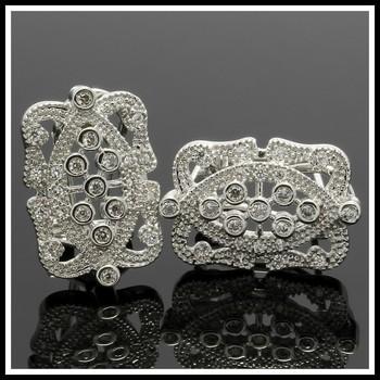 1.40ctw White Sapphire Earrings