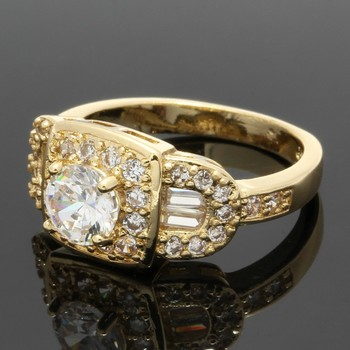 1.43ctw White Sapphire Ring Size 6 3/4