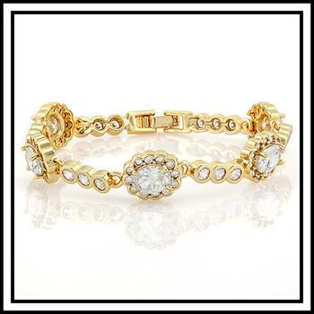 14.55ctw White Sapphire Antique Look Bracelet