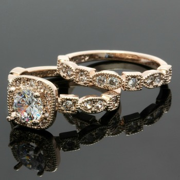 1.48ctw White Sapphire Set Of Two Rings Size 7
