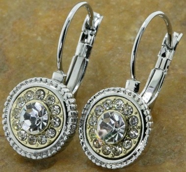 14k Gold Over  Lead Free  High End Jewelry White CZ Earrings