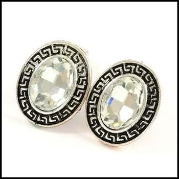 14k White Gold Overlay, 8.5ctw White Topaz Earrings