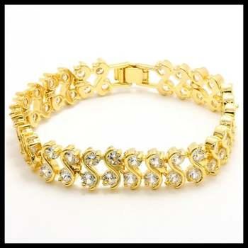 14k White Gold Overlay, 9.50ctw AAA Grade CZ's Bracelets