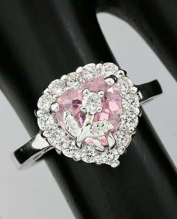 3.05ctw Beautifully Created Pink Topaz Ring Size 6