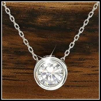 14k White Gold Overlay Beautifully Created White Sapphire Necklace