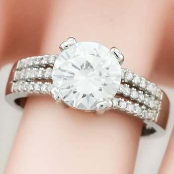 14k White Gold Overlay  White Topaz Ring Size 8