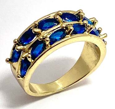 1.50ctw Blue Topaz Ring Size 7