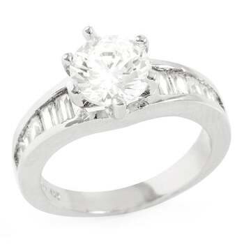 1.50ctw White Sapphire Ring Size 7
