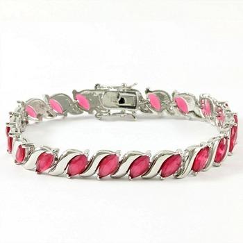 15.75ctw Ruby Tennis Bracelet