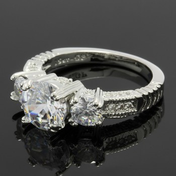 1.60ctw White Sapphire Ring Size 6