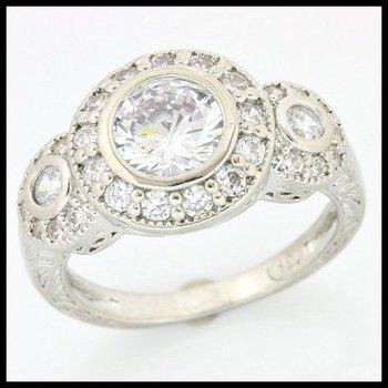 1.62ctw (AAA Grade) Cubic Zirconia Ring sz 7