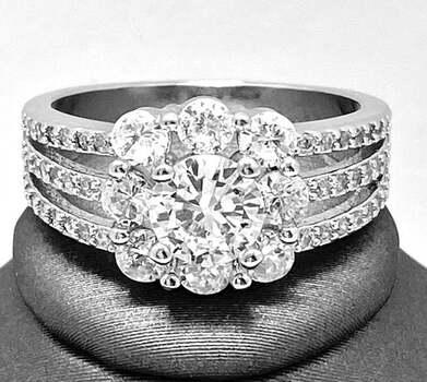 1.75ctw White Sapphire Ring
