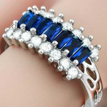1.76ctw Sapphire Ring / Band Size 7