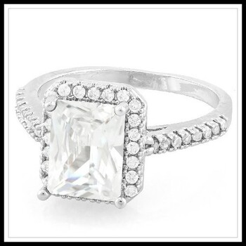 1.76ctw White Sapphire Ring Size 6