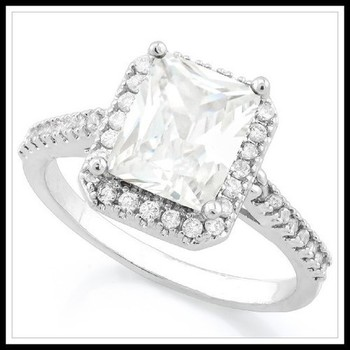 1.76ctw White Sapphire Ring Size 9
