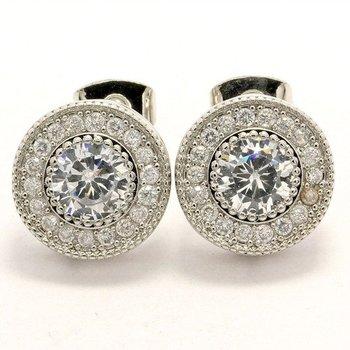 1.76ctw White Sapphire Stud Earrings