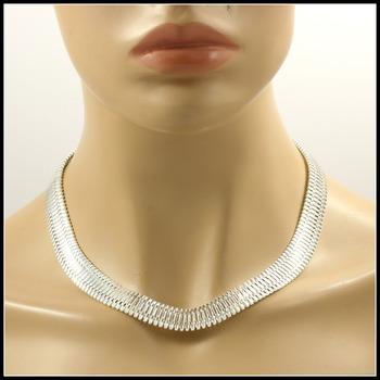 "18"" Long & 1/2"" Width Design Chain Necklace"