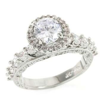 1.80ctw White Sapphire Ring sz 8