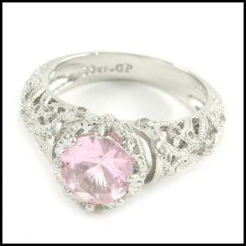 1.87ctw Pink & White Sapphire Ring Size 7