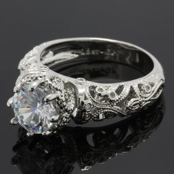 1.95ctw White Sapphire Ring Size 8