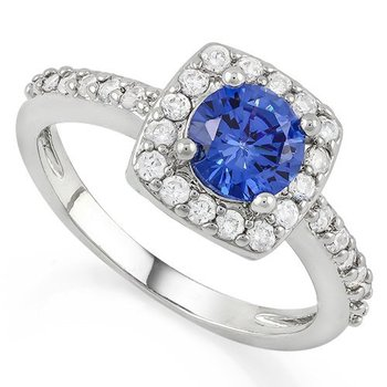 1.9ctw Tanzanite & White Sapphire Ring Size 7