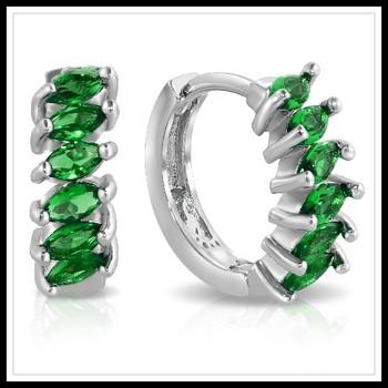 2.00ctw Emerald Earrings