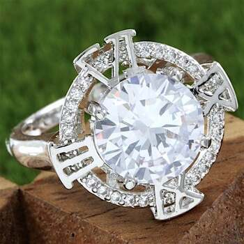 2.00ctw White Sapphire Ring Size 8