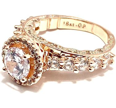 2.05ctw White Sapphire Ring Size 6.5