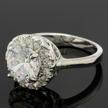 2.08ctw White Sapphire Ring Size 6.5