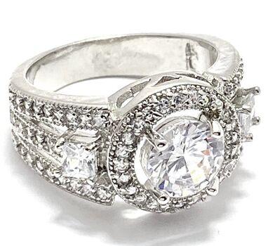2.0ctw White Diamonique Ring Size 7