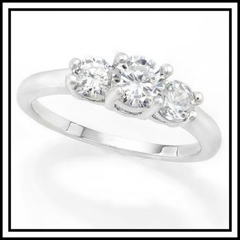 2.10ctw White Italian CZ (AAA Grade) Ring  Size 6