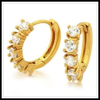 2.10ctw White Sapphire Earrings