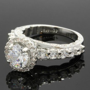 2.10ctw White Sapphire Ring Size 7