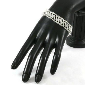 21.50ctw AAA+ Grade Fine White Cubic Zirconia CZ Bracelet