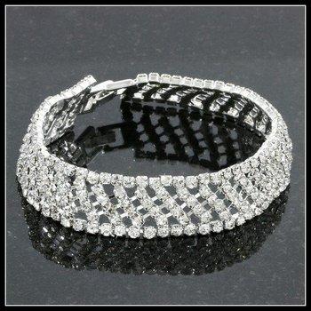21.50ctw AAA+ Grade Fine White Cubic Zirconia Fine Jewelry Brass with 3x Gold Overlay Bracelet