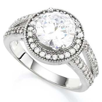 2.15ctw White Sapphire Ring Size 7