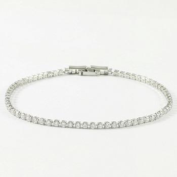 2.20ctw White Sapphire Bracelet