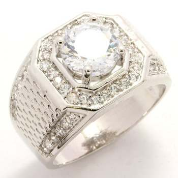 2.22ctw White Sapphire Ring size 10