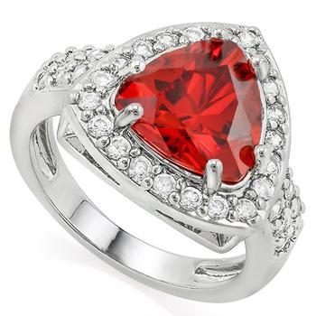 2.25ctw Garnet & White Sapphire Ring sz 7