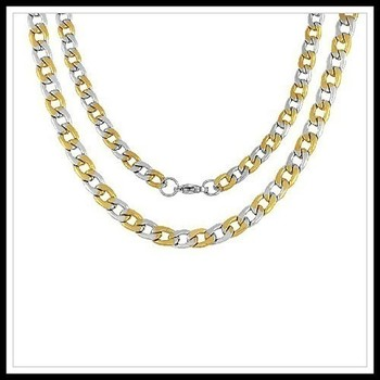 "23"" Stainless Steel Design Curb Chain Necklace"