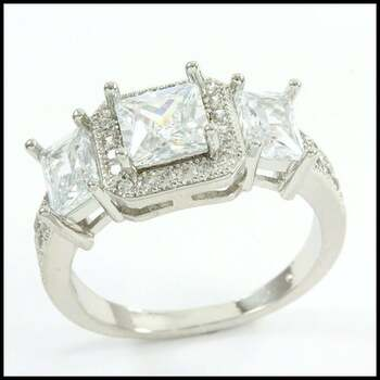 2.30ctw White Sapphire Ring Size 7