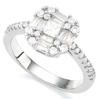 2.35ctw AAA+ Grade Fine Cubic Zirconia Engagement Ring Size 8