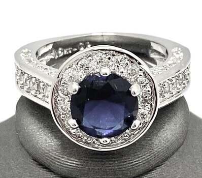 2.38ctw Blue & White Sapphire Ring