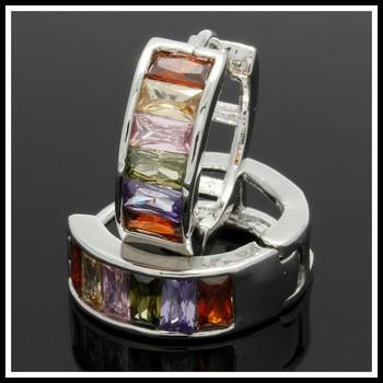 2.40ctw Multi-Color Gemstones Earrings