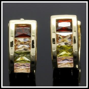 2.40ctw Multicolor Gemstones Earrings